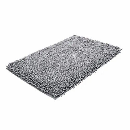 Plain Rectangular Bathroom Cotton Rugs