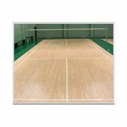 Wooden Flooring Badminton Court Flooring Services, On Site
