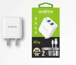 White Electric Oraimo Charger Ocw-I61d Firefly