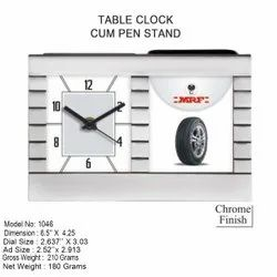 Table Clock Cum Pen Stand with Your Branding
