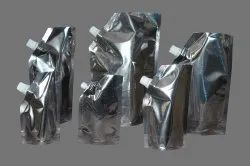 Plastic Silver Spout Pouch, Thickness: 130 Microns, Size: 50 Gm To 1 Kg