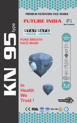 Future India Reusable KN95 Mask, Number of Layers: 5 Layers