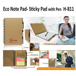 Eco Note Pad- Sticky Pad With Pen H-811
