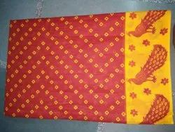 Kalamkari Cotton Printed Sarees