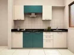 Residential Straight Modular Kitchen