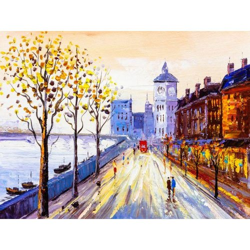 Uv Coated Canvas Acrylic Painting