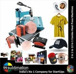 99 Sublimation 8 In 1 Combo Heat Press Machine For Caps Gifts Plates