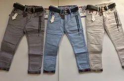 Kids Boys Cotton Jeans Reactive