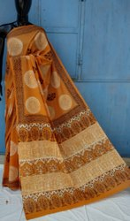Exclusive Bagru Hand Block Printed Cotton Saree