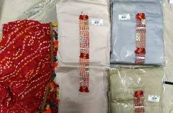 Casual Wear Unstitched Ladies Printed Cotton Suits