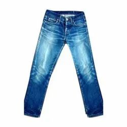 Regular Fit Casual Wear Mens Faded Denim Jeans, Waist Size: 28-36
