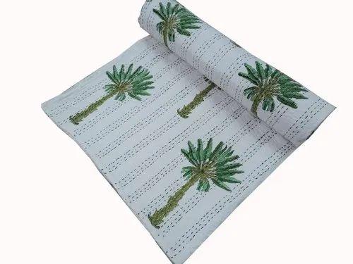 Kantha Floral Print Pattern Gudri