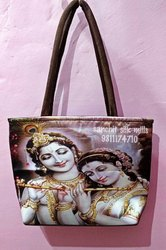 Digital Print Loop Handle PVC Ladies Bag