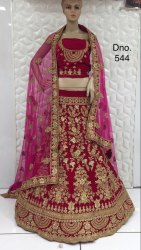 Bridal Lehenga Choli Of Full Embroidery Work