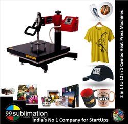 99sublimation 4 in 1 Combo Heat Press Machine for Caps T Shirts Mugs