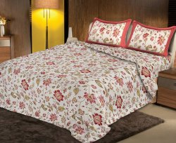 Floral Printed Cotton Double Bedsheets