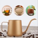 Stainless Steel Gooseneck Long Spout Serving Kettle Milk Tea Pot 10 Oz
