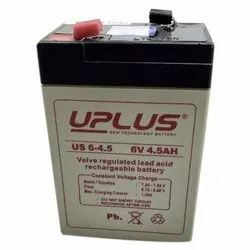 4.5Ah UPlus Rechargeable Battery, Model Number: Us 6-4.5, Battery Type: Sealed Type