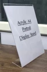 ACRYLIC A4 DISPLAY STAND