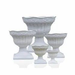 GP-A2914 White Plastic Pot