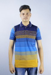 Half Sleeve Multicolor Casual Printed Cotton Polo T Shirts