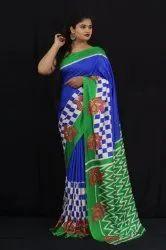 Designer Handloom Linen Chanderi Sarees