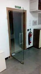 Toughened Plain Glass Doors for Office