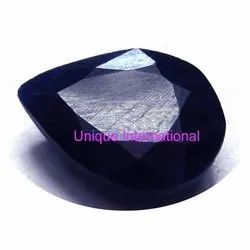 Indian Dyed Blue Sapphire Pear Shaped Gemstone