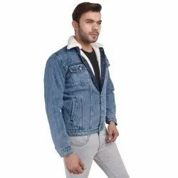 Skupar Men Denim Jacket With Fur