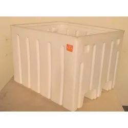 White Plaast Rectangular Plastic Crate, Capacity: 320 And 1000 L