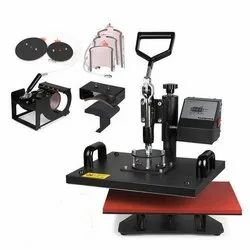 Metal 8 in 1 Combo Heat Press - Mobile Covers, Automation Grade: Semi-Automatic, 1250 W