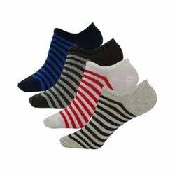 Q-Tex Multicolor Mens Strips Loafer Socks