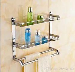 S.S. Bathroom Double Shelf