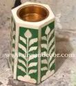 Bone Inlay Candle Holders