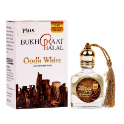 Bukhraat Halal Oodh White Concentrated Attar, Packaging Type: Glass Bottle