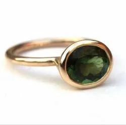 Green Tourmaline Ring Men and Women Asthdhatu Gemstone