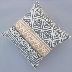 Multi Color Hand Made Darrie Cotton Block Print Home Decor Decorative Sofa Boho Cushion Cover