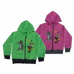 Casual Wear Kids Printed Cotton Jacket