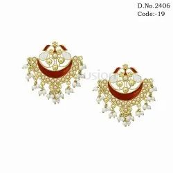 Indo Western Meenakari Earrings