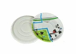 300 Club Printed Paper Plate, Paper Gsm: 220 Gsm, Size: 12