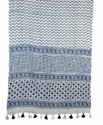 Blue Designer Fancy Woman Stole Cotton Lades Scarf 22x72 Inches