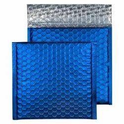 Polyester Silver, Blue Metallic Bubble Envelope