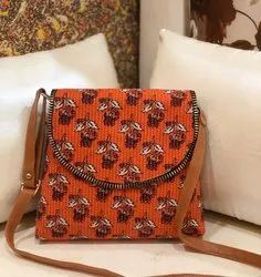 Sheenaz Cotton Ikkat Sling Bag, Size: 10*9