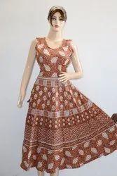 Jaipuri Print Anarkali Frock