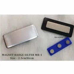 Magnet Name Badges Silver