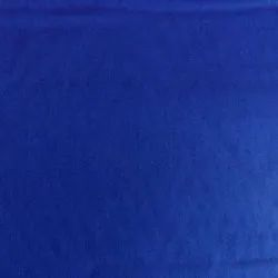 44-45 Blue Plain Cotton Fabric, For Garments, GSM: 150-200