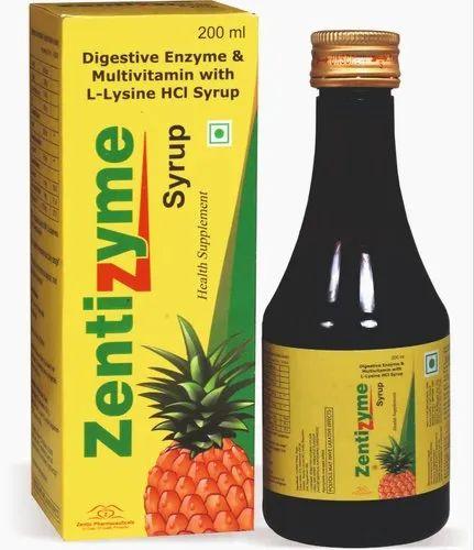 Digestive Enzyme & Multivitamin With L Lysine Hci Syrup