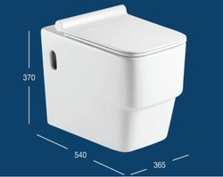 Wall Hung Toilet With UF Seat Cover & Fittings