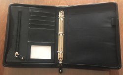 Leather Ring Binder Portfolio