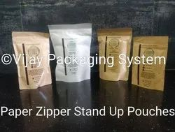 Printed Paper Zipper Stand Up Pouches